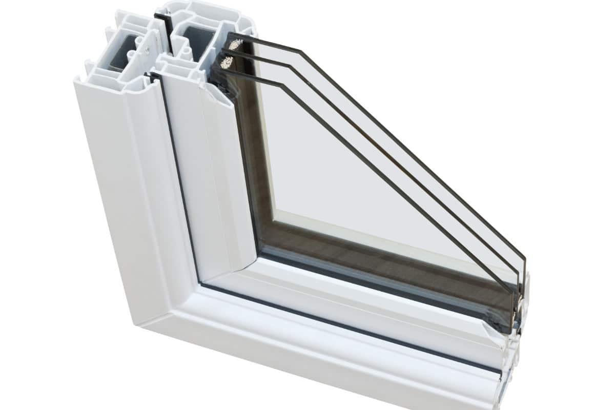 pvc raam met driedubbele beglazing
