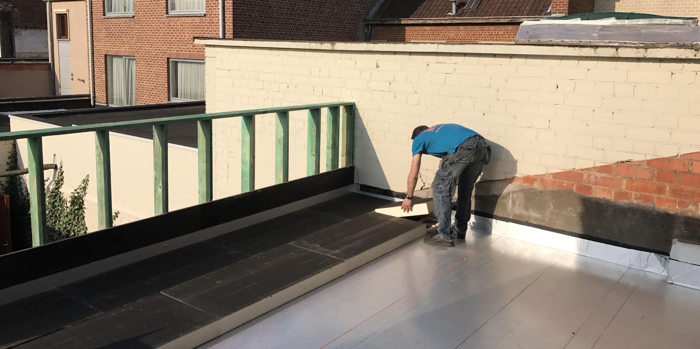 zelf plat dak isoleren